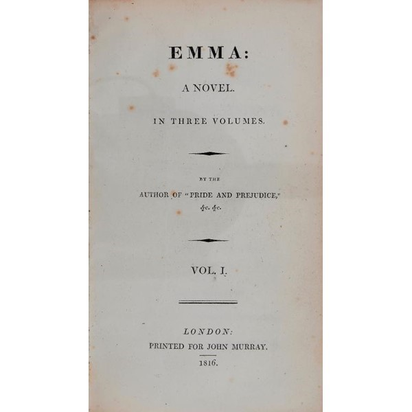 EMMA A NOVEL IN THREE VOLUMES  Image