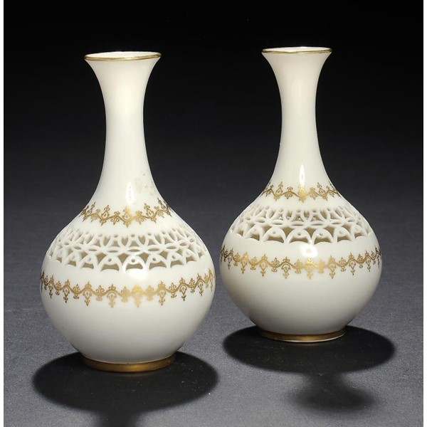 ROYAL WORCESTER RETICULATED VASES Image