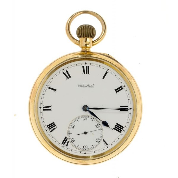 A FINE ENGLISH 18CT GOLD KARRUSEL WATCH (2) Image